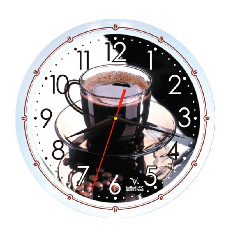 Часы настенные Вега Кофе42П1-7914/7-42Оригинальные настенные часы круглой формы Вега Кофе42 выполнены из пластика. Часы имеют три стрелки - часовую, минутную и секундную. Необычное дизайнерское решение и качество исполнения придутся по вкусу каждому. Оформите свой дом таким интерьерным аксессуаром или преподнесите его в качестве презента друзьям, и они оценят ваш оригинальный вкус и неординарность подарка.Часы работают от 1 батарейки типа АА напряжением 1,5 В (в комплект не входит).