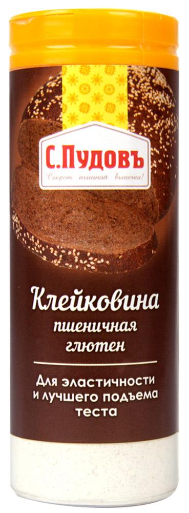 Пудовъ клейковина пшеничная, 60 г4607012295248Клейковина пшеничная (глютен) - натуральный продукт, который получен из пшеничного зерна. Используется при выпечке из всех видов муки. Предназначен для улучшения качества муки при пониженном содержании клейковины, увеличения объема изделий, лучшего подъема теста, продления срока свежести изделий. Рекомендуемая дозировка: 1-1,5% к массе муки.