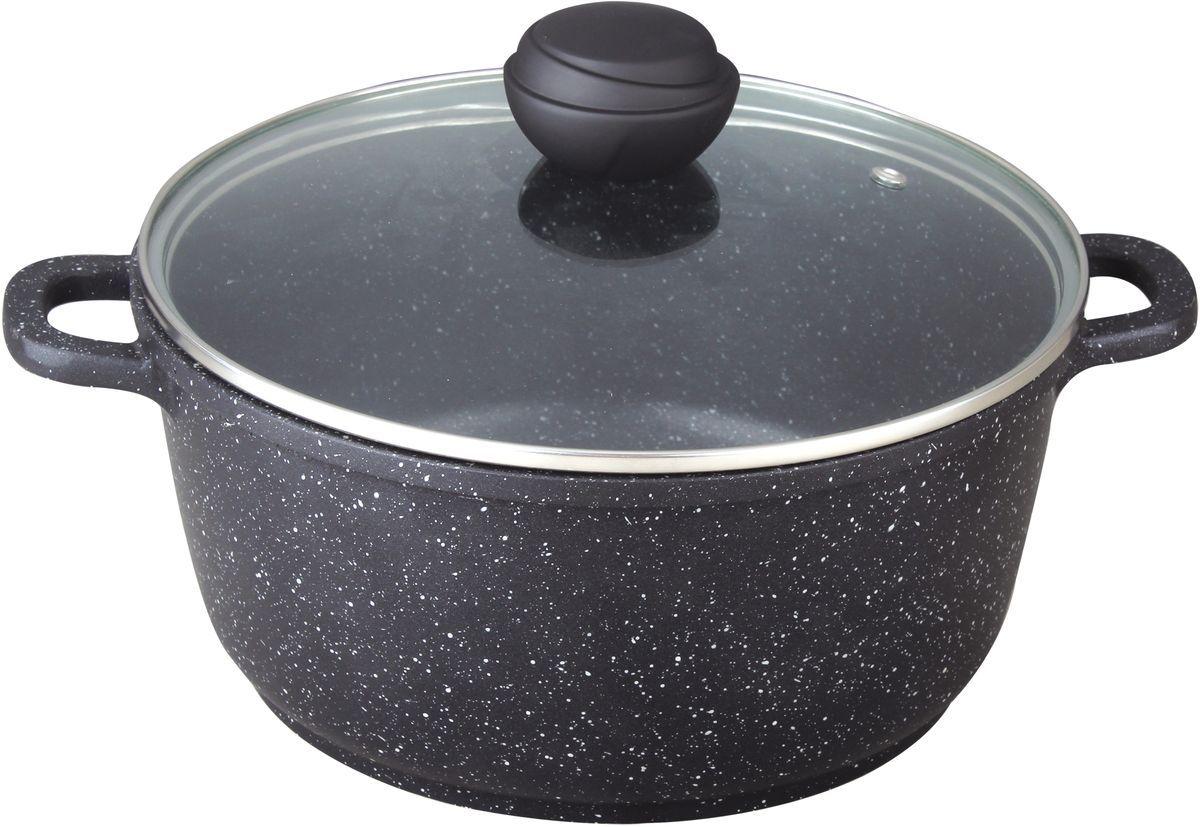 Кастрюля Bekker, 6,0 л. BK-1107946726,0 л. Кастрюля со стеклянной крышкой. Диаметр 28см, высота 12,5см, толщина стенки 2,0мм, дна 4,5мм. Внутри антипригарное черное мраморное покрытие, снаружи жаропрочное черное мраморное покрытие. Ручки крышки с силиконовым покрытием, ручки кастрюли из литого алюминия. Подходит для индукц.плит и чистки в посудомоечной машине. Состав: литой алюминий.