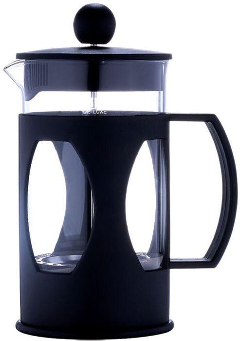 Френч-пресс Bekker De Luxe, 600 мл. BK-388391602Френч-пресс Bekker De Luxe изготовлен из термостойкого стекла. Корпус оснащен удобной пластиковой ручкой, которая не нагревается. Фильтр-поршень из нержавеющей стали обеспечивает равномерную циркуляцию воды и насыщенность напитка. С его помощью также можно регулировать степень крепости чая. Сбоку стеклянной колбы имеется носик для удобного слива жидкости. Прозрачное стекло позволяет наблюдать за процессом приготовления напитка. Френч-пресс Bekker De Luxe позволит быстро приготовить свежий и ароматный кофе или чай.