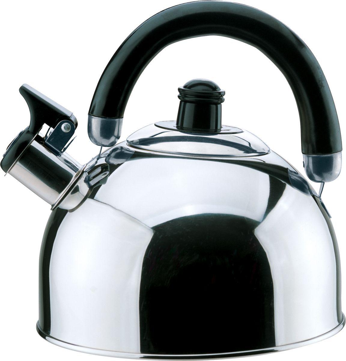 Чайник Bekker, 2,5 л. BK-S341MVT-1520(SR)2,5л, со свистком, ручка пластм. подвижная черного цвета, крышка из нержав. стали, капсулир. дно, поверхность зерк. Состав: нержав. сталь.