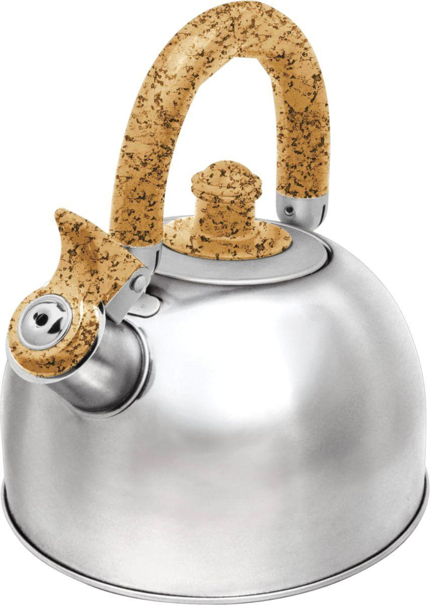 Чайник Bekker, 2,5 л. BK-S307M54 009312Чайник Bekker изготовлен из высококачественной нержавеющей стали 18/10. Внешняя поверхность зеркальная. Капсулированное дно распределяет тепло по всей поверхности, что позволяет чайнику быстро закипать. Эргономичная фиксированная ручка выполнена из нержавеющей стали и бакелита с прорезиненным цветным покрытием. Носик оснащен откидным свистком, который подскажет, когда закипела вода. Свисток открывается нажатием на рукоятку. Подходит для газовых, стеклокерамических, галогеновых, электрических плит. Не подходит для индукционных. Можно мыть в посудомоечной машине.