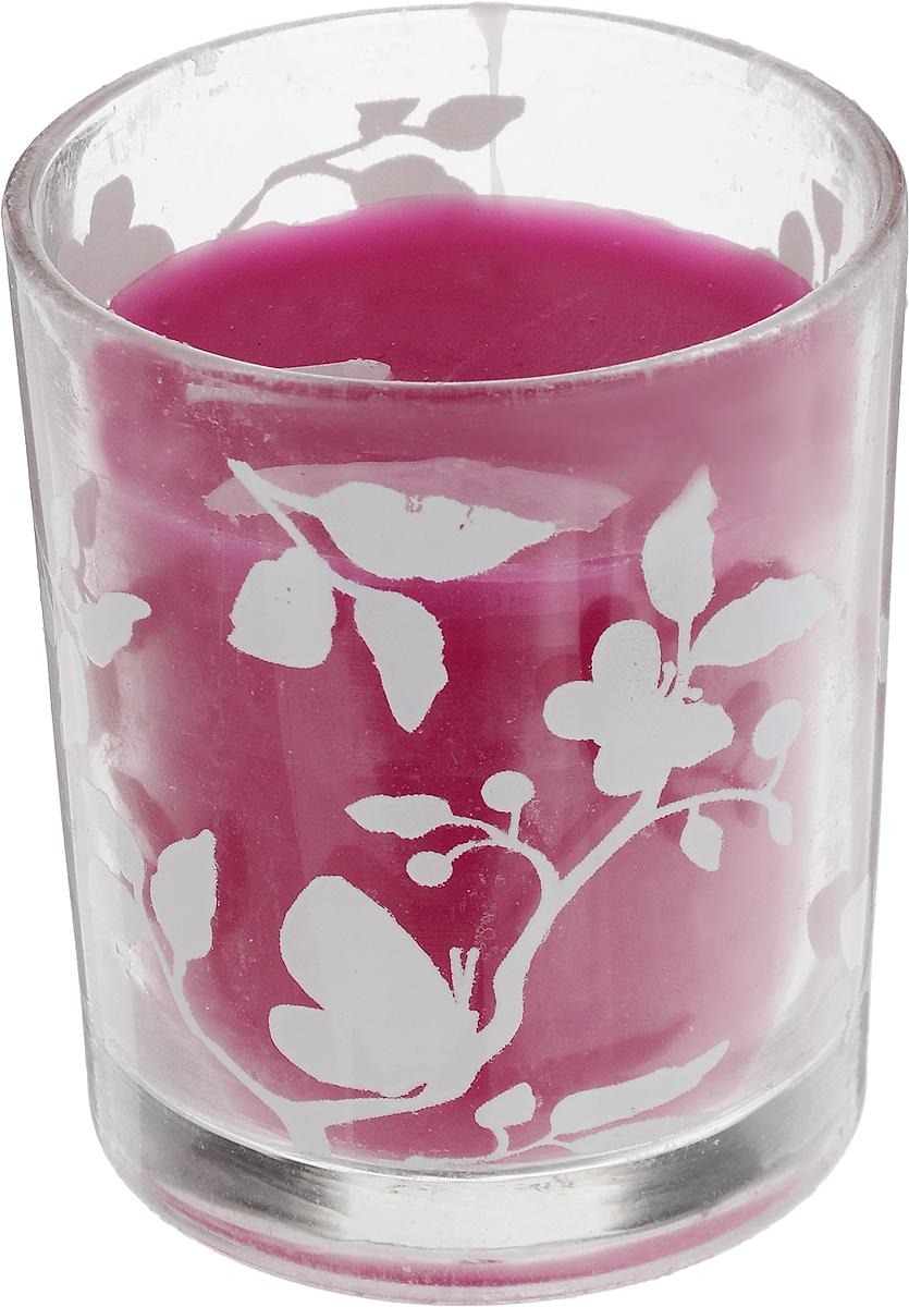 Свеча декоративная Lovemark, цвет: розовый, 6 х 6 х 7 смU210DFДекоративная свеча Lovemark, изготовленная из стеарина и парафина, помещена в подсвечник, выполненный из стекла и декорированный оригинальным рисунком. Такая свеча не только поможет дополнить интерьер вашей комнаты, но и станет отличным подарком.