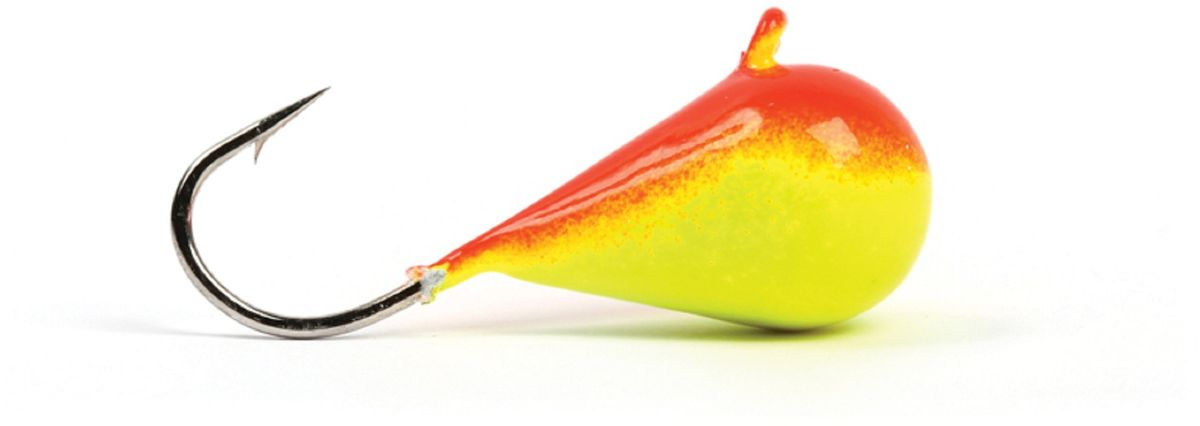 Мормышка вольфрамовая Asseri Капля, с ушком, цвет: красный, желтый, диаметр 7,5 мм, вес 5,1 г, 5 шт67744Зимняя мормышка Asseri Капля используется для ловли не самой активной рыбы. Она небольшого размера, окрашена так, чтобы издалека привлечь рыбу. Обычно на нее надевают какую-нибудь насадку. Каплевидная мормышка лучше покачивается при движении зимней удочки. Мормышка-капелька применяется для безмотыльной ловли рыбы при наклонной подвеске. Привлекает рыбу и при шевелении на дне. Мормышка капля - это отличный выбор для новичка в зимней рыбалке.
