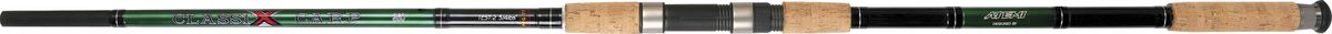 Удилище карповое Atemi Classix Carp, 3,9 м, 2,75 lb205-03390Строй штекерного удилища Atemi Classix Carp позволяет делать забросы приманки на максимальные расстояния и смягчать рывки рыбы при вываживании. Бланк выполнен из высококачественного стекловолокна. Пробковая ручка обеспечивает надежный и удобный хват.Тест: 2,75 lb.