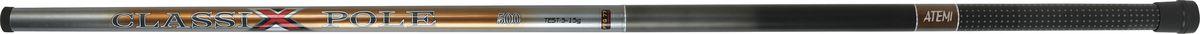 Удилище телескопическое Atemi Classix Pole, без колец, 4 м, 5-15 г209-11270Atemi Classix Pole - это хорошая удочка для начинающих рыболовов, обеспечивающая соотношение цены и качества. Стекловолокно, из которого изготовлено удилище, обеспечивает высокую прочность. Облегченный катушкодержатель и специфика колец позволяют добиться оптимального строя. Для крепления снасти на конце верхнего колена установлено колечко. На торце рукоятки установлен откручивающийся колпачок для технического обслуживания удочки.