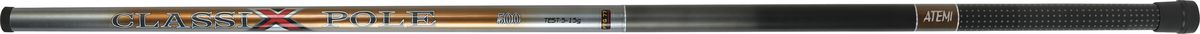 Удилище телескопическое Atemi Classix Pole, без колец, 5 м, 5-15 г205-07210Atemi Classix Pole - это хорошая удочка для начинающих рыболовов, обеспечивающая соотношение цены и качества. Стекловолокно, из которого изготовлено удилище, обеспечивает высокую прочность. Облегченный катушкодержатель и специфика колец позволяют добиться оптимального строя. Для крепления снасти на конце верхнего колена установлено колечко. На торце рукоятки установлен откручивающийся колпачок для технического обслуживания удочки.