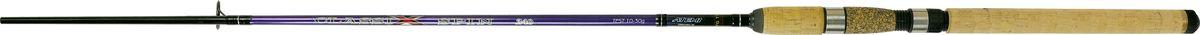 Cпиннинг штекерный Atemi Classix Spin, с пробковой ручкой, 2,4 м, 10-30 г208-05300Штекерное удилище с пробковой ручкой Atemi Classix Spin порадует даже опытного рыболова. Спиннинг отлично подойдет для ловли некрупной рыбы - форели, окуня. Удилище выполнено из прочного, ударостойкого стеклопластика. Оно способно долго находиться под сильной нагрузкой и не ломаться. В тоже время спиннинг довольно тяжел. Пробковая ручка будет в любое время года теплой и приятно ложится в руке, не скользит. Спиннинг отлично сбалансирован. Облегченные кольца изготовлены из высококачественного материала и изнутри покрыты керамикой, что дает возможность использовать плетеные лески. Классический винтовой катушкодержатель подходит для большинства типов катушек. Вес: 180 г.Длина: 2,4 м.Секций: 2.Тест: 10-30 г.Длина при транспортировке: 95 см.