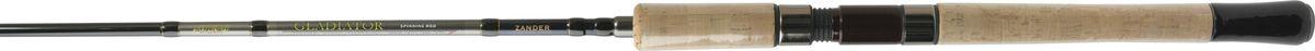 Cпиннинг штекерный Atemi Gladiator Zander, 3 м, 7-45 г205-18300Cпиннинг штекерный Atemi Gladiator Zander произведен из высокомодульного графита IM-6, что делает его конструкцию прочной и надежной. Спиннинг состоит из двух частей. Изделие оснащено кольцами со вставками SIC, особенностью которых является низкая теплопроводность. Вставки SIC на кольцах с напыление соединений титана. У колец со вставками из SiC при трении лески о кольцо тепло равномерно распределяется по всему диаметру кольца и рамке. Спиннинг имеет невесомую рукоятку из натурального пробкового дерева, что особенно оценят профессиональные рыболовы за приятные тактильные ощущения. Вес спиннинга составляет 230 г, что довольно мало и этот показатель позволит ловить рыбу длительное время без особых усилий, не думая, что рука устанет. Длина спиннинга большая, как раз для ловли судака на джиговые приманки. Он хорошо работает на дальний заброс как с лёгкими так и с тяжелыми приманками, предназначенных для ловли с лодки.