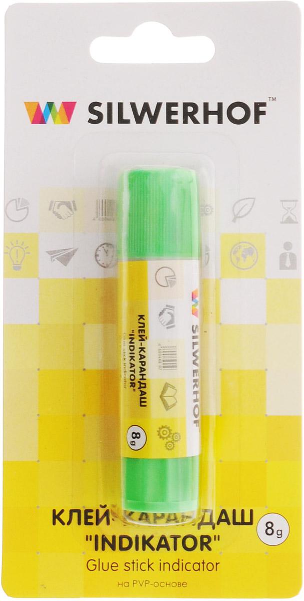 Silwerhof Клей-карандаш Indikator 8 гFS-00103Клей-карандаш Silwerhof Indikator на PVP-основе идеально подходит для склеивания бумаги, картона и фотографий. Цветной ингредиент позволяет точно определить нанесение слоя в месте склеивания. После высыхания клея цветной компонент исчезает. Клей-карандаш экологически безопасен, быстро сохнет и не оставляет следов после высыхания. Вес клея: 8 грамм.