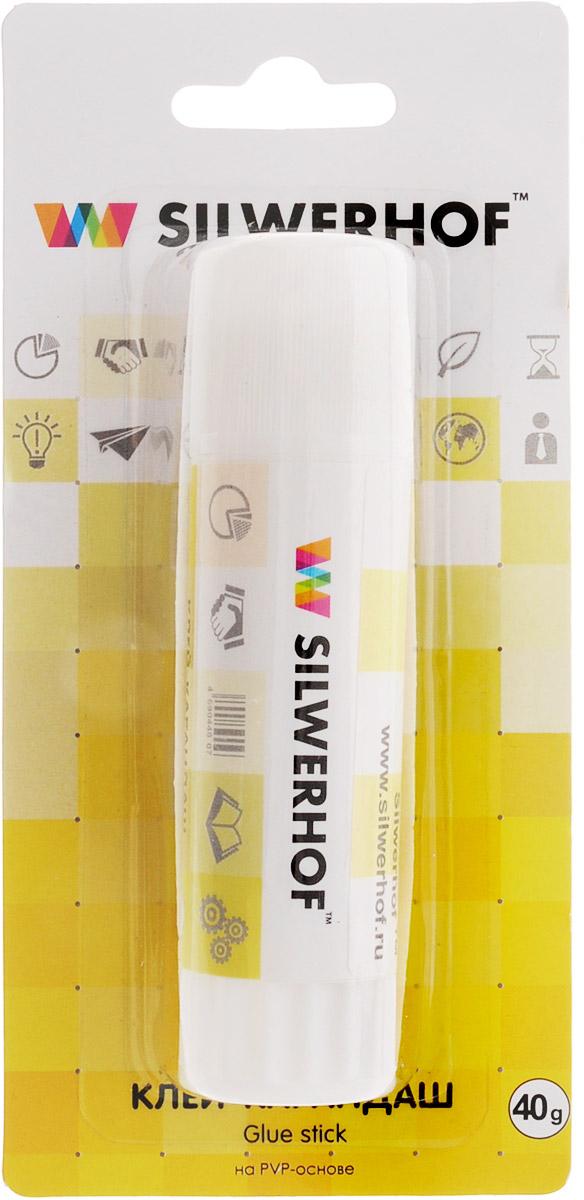 Silwerhof Клей-карандаш 40 гFS-54100Клей-карандаш Silwerhof идеально подходит для склеивания бумаги, картона и фотографий. Выкручивающийся механизм обеспечивает постепенное выдвижение клеящего стержня из пластикового корпуса. Клей-карандаш экологически безопасен, быстро сохнет и не оставляет следов после высыхания. Вес клея: 40 грамм.