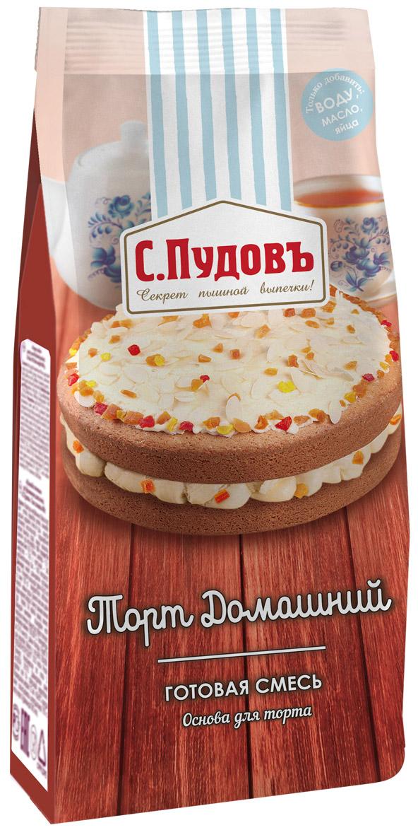 Пудовъ торт домашний, 400 г4607012295859Основа для домашнего торта - это ваша возможность быстро и без хлопот приготовить вкусный пирог или великолепный торт, оригинальное печенье или сладкие корзиночки под десерт. Сбалансированный состав смеси позволит получить ароматную выпечку в кратчайшие сроки.