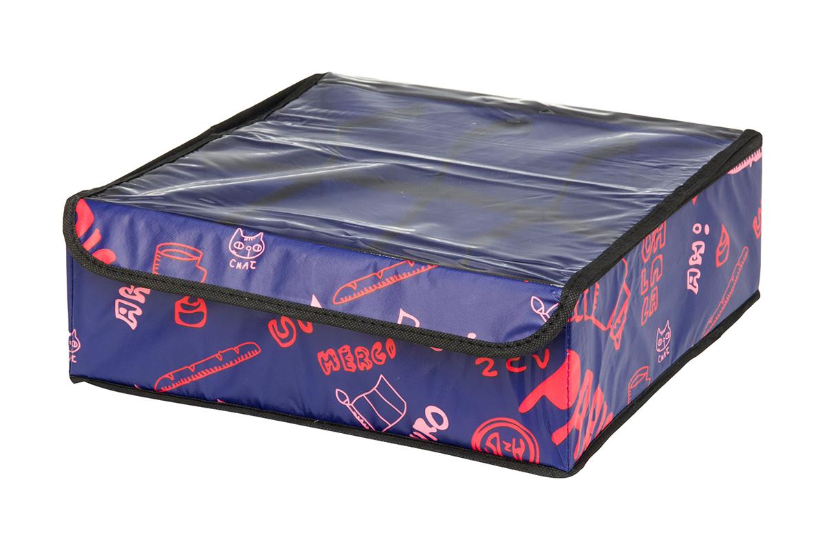 Кофр для хранения EL Casa Европа, 8 секций, 32 х 32 х 12 см370523Кофр для хранения EL Casa Европа выполнен из качественного полиэстера, который обеспечивает естественную вентиляцию, отлично пропускает воздух, но не пропускает пыль. Вставки из плотного картона хорошо держат форму. Изделие декорировано красочным рисунком и имеет оригинальный дизайн. Кофр с 8 секциями подходит для хранения нижнего белья, колготок, носков и другой одежды. Прозрачная крышка на липучке, выполненная из ПВХ, позволяет видеть содержимое кофра, не открывая его. Изделие поможет хранить вещи компактно и удобно. Подходит для размещения в шкафу, комоде.
