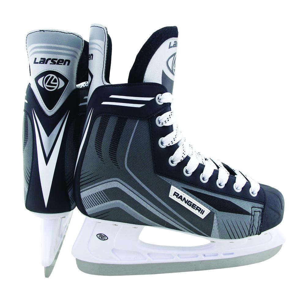 Коньки хоккейные мужские Larsen Ranger 11, цвет: черный, белый, серый. 338445. Размер 39