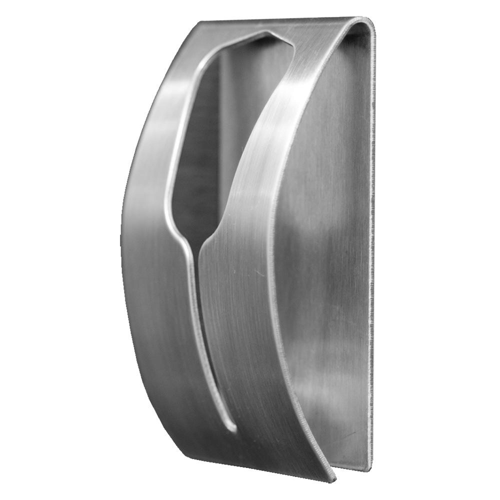 Вешалка самоклеящаяся Tatkraft Ida, для полотенец, 5 см х 7,5 см х 2 см68/5/3Хромированная самоклеящаяся вешалка для полотенец Tatkraft Ida, изготовлена из нержавеющей стали. Вешалка с современным дизайном не боится влаги, и очень легко крепится к стене. Чтобы зафиксировать вешалку, не нужно сверлить дырки, достаточно снять защитный слой и прочно прижать вешалку к стене. Крепкая, оригинальная вешалка выдерживает вес до 5 кг.Размер вешалки: 5 см х 7,5 см х 2 см.Максимальная нагрузка: 5 кг.