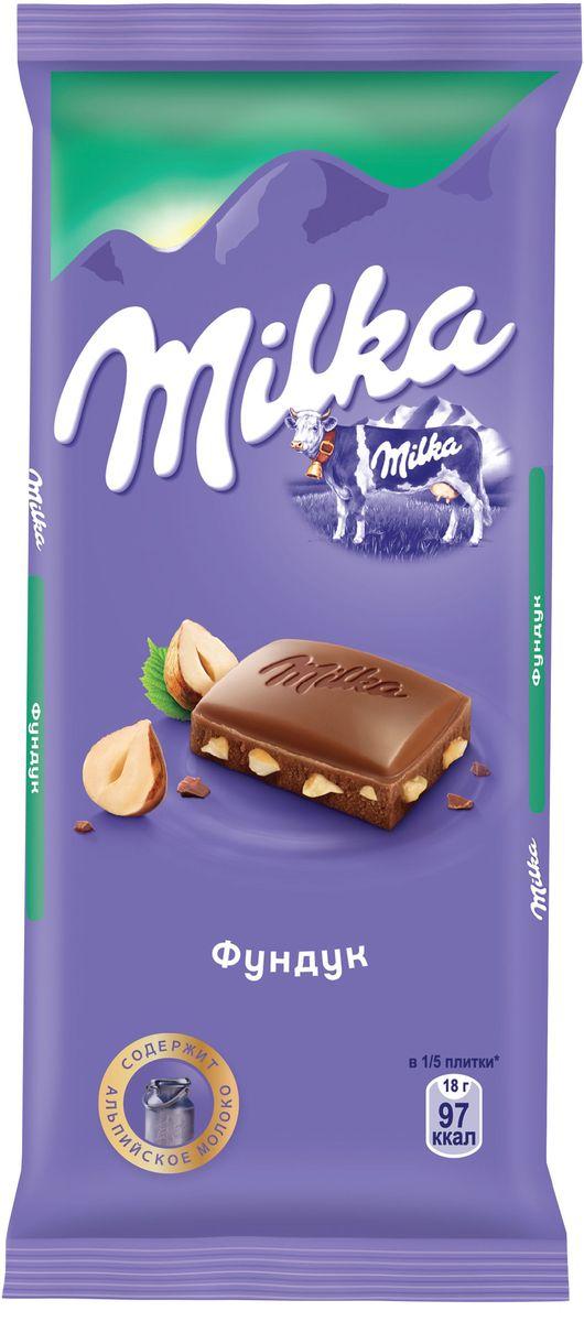 Milka шоколад молочный с фундуком, 90 г4001815, 402132217 ноября 1825 года швейцарский шоколатье и пекарь Филипп Сушард (1797-1884) открыл в Нушатель, Швейцария, пекарню, где он продавал десерты ручной работы. В течение следующего года производство стремительно расширялось, и фабрика была перенесена в соседний Серрер, в помещение, занимаемое ранее водяной мельницей; Филипп ежедневно продавал уже по 25-30 килограммов шоколада Milka.В течение 1890-ых в шоколадную продукцию Suchard начало добавляться молоко. Согласно Хорватским источникам, название для шоколадной продукции Милка было выбрано Филиппом в знак его страсти, почтения и симпатии к хорватской сопрано-певице Милке Терниной (1863-1941).В 1970 компания Suchard слилась со швейцарским производителем Toblerone, образовав этим слиянием Interfood. В 1982 Interfood была объединена с кофейной компанией Jacobs, превратившись в Jacobs Suchard, которая вскоре была приобретена, (включая бренд Milka), компанией Kraft Foods. В октябре 2012 года компания была переименована в Mondelez International.