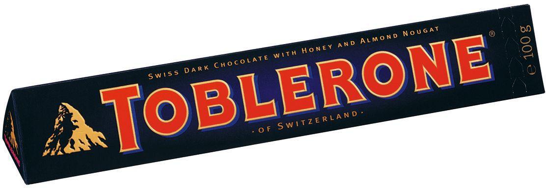 Toblerone шоколад горький с медово-миндальной нугой, 100 г0120710Знаменитый швейцарский шоколад Тоблерон треугольной формы. Шоколад Toblerone известен во всем мире благодаря запатентованной треугольной форме, неизменному швейцарскому качеству и характерному сочетанию настоящего горького швейцарского шоколада, меда и миндальной нуги. Впервые шоколад под торговой маркой Toblerone начал продаваться в Швейцарии в 1908 году и очень скоро стал символом этой удивительной страны.