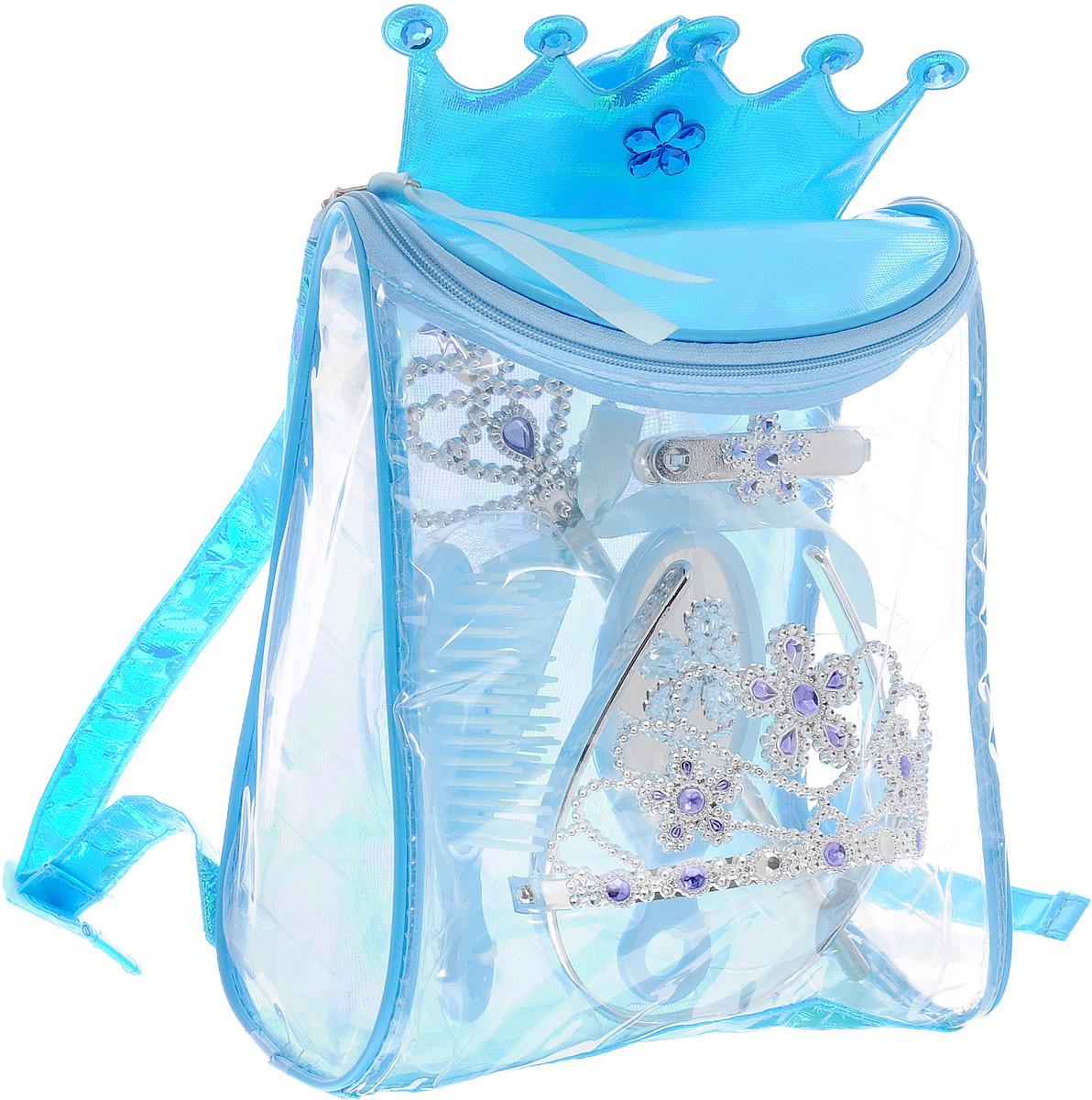 Boley Игровой набор Fantasy Girls Рюкзачок с аксессуарами цвет голубой аксессуары для кукол boley игрушка boley корона серия холодное сердце