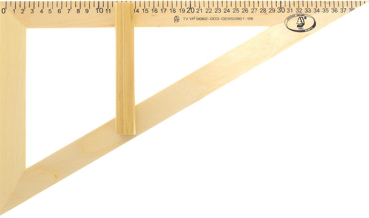 Красная звезда Угольник классный 30 градусов 40 смFS-00103Угольник классный Красная звезда изготовлен из твердолиственных пород древесины. Имеет лакированную поверхность.Угольник - незаменимый помощник учителя геометрии, алгебры, физики, имеет ручку для удобства черчения на вертикальной или наклонной школьной доске. Длина шкалы - 400 мм.