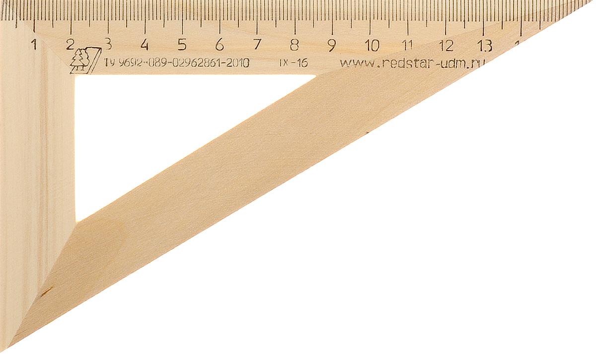 Красная звезда Угольник 30 градусов 16 см72523WDУгольник Красная звезда с углом в 30 градусов изготовлен из твердолиственных пород древесины. Имеет износостойкую одностороннюю шкалу, длина шкалы - 160 мм.