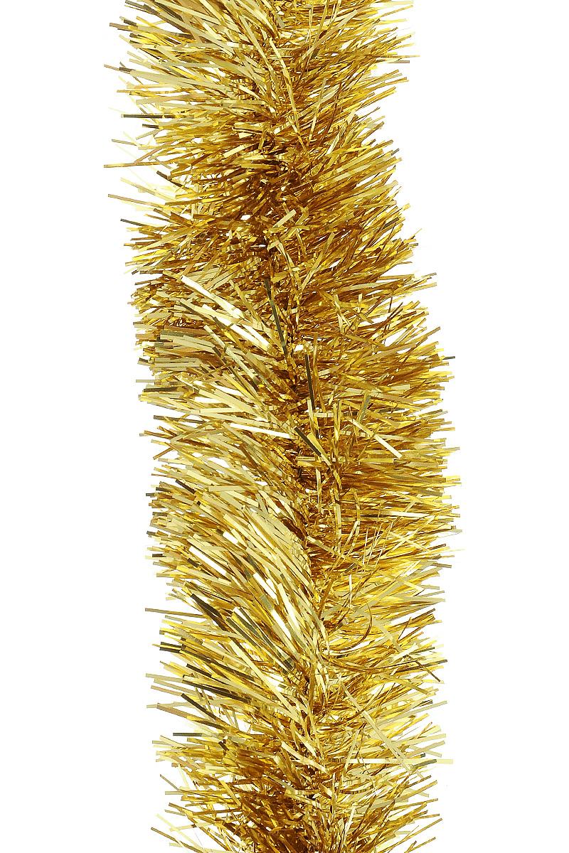 Мишура новогодняя Moranduzzo, цвет: золотой, диаметр 5 см, длина 2 мK100Мишура новогодняя Moranduzzo, выполненная из ПВХ, поможет вам украсить свой дом к предстоящим праздникам. Новогодняя елка с таким украшением станет еще наряднее. Новогодней мишурой можно украсить все, что угодно - елку, квартиру, дачу, офис - как внутри, так и снаружи. Можно сложить новогодние поздравления, буквы и цифры, мишурой можно украсить и дополнить гирлянды, можно выделить дверные колонны, оплести дверные проемы.