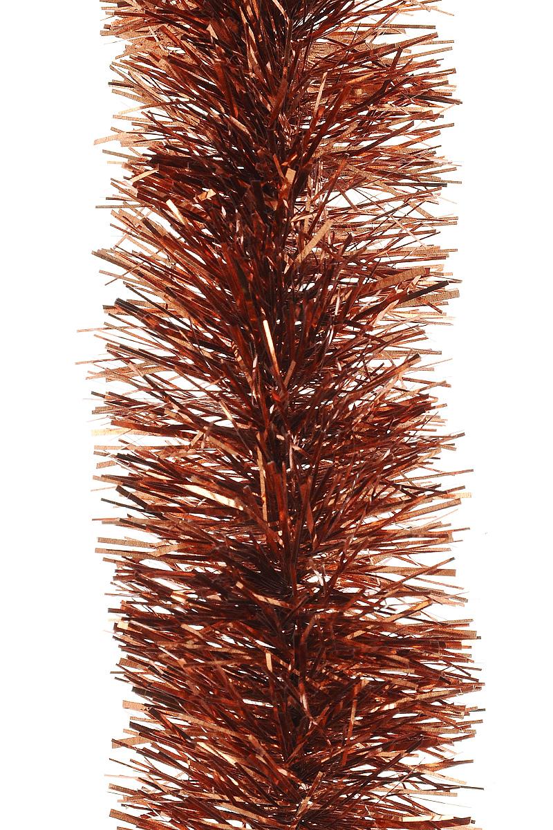 Мишура новогодняя Moranduzzo, цвет: красно-медный, диаметр 5 см, длина 2 м19201Мишура новогодняя Moranduzzo, выполненная из ПВХ, поможет вам украсить свой дом к предстоящим праздникам. Новогодняя елка с таким украшением станет еще наряднее. Новогодней мишурой можно украсить все, что угодно - елку, квартиру, дачу, офис - как внутри, так и снаружи. Можно сложить новогодние поздравления, буквы и цифры, мишурой можно украсить и дополнить гирлянды, можно выделить дверные колонны, оплести дверные проемы.