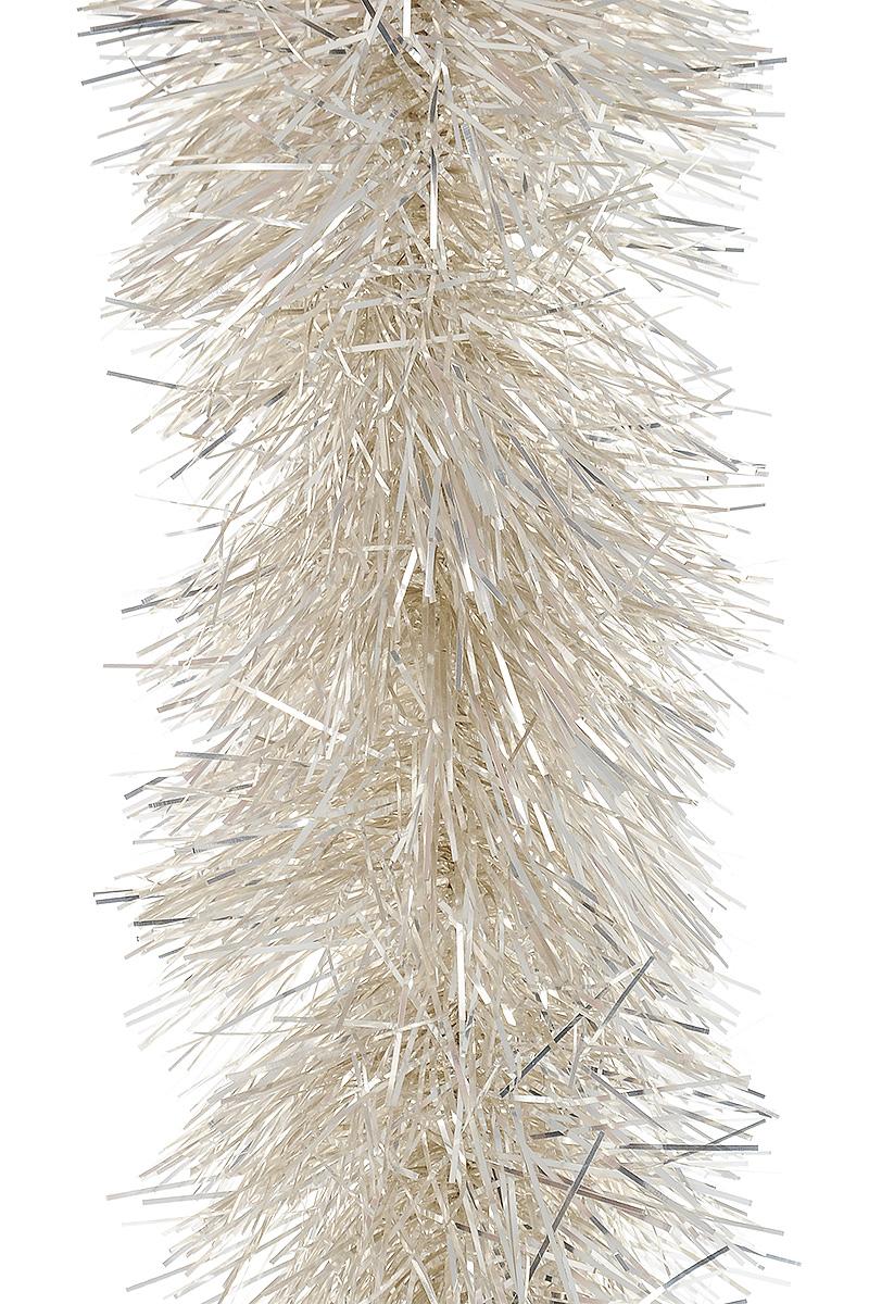 Мишура новогодняя Moranduzzo Серебро, цвет: серебряный, диаметр7,5 см, длина 2 мRSP-202SМишура новогодняя Moranduzzo Серебро, выполненная из ПВХ, поможет вам украсить свой дом к предстоящим праздникам. Новогодняя елка с таким украшением станет еще наряднее. Новогодней мишурой можно украсить все, что угодно - елку, квартиру, дачу, офис - как внутри, так и снаружи. Можно сложить новогодние поздравления, буквы и цифры, мишурой можно украсить и дополнить гирлянды, можно выделить дверные колонны, оплести дверные проемы.