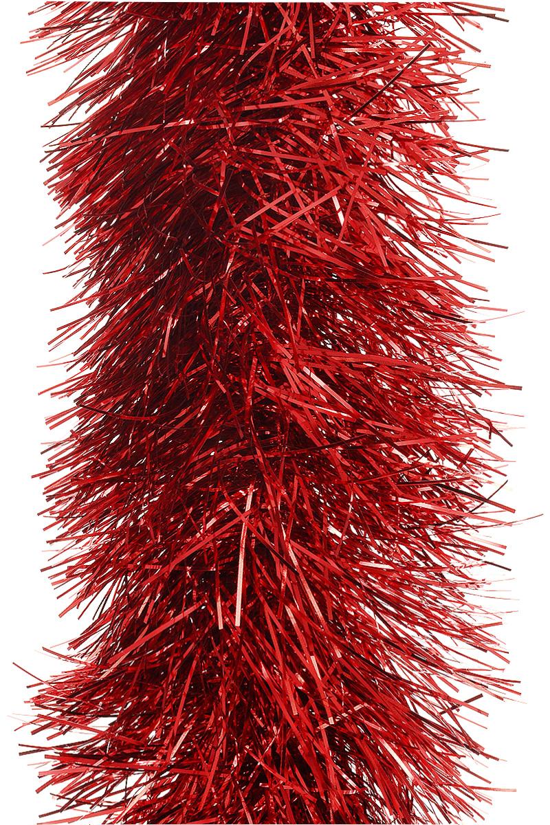 Мишура новогодняя Moranduzzo, цвет: красный, диаметр 10 см, длина 2 мNLED-454-9W-BKМишура новогодняя Moranduzzo, выполненная из ПВХ, поможет вам украсить свой дом к предстоящим праздникам. Новогодняя елка с таким украшением станет еще наряднее. Новогодней мишурой можно украсить все, что угодно - елку, квартиру, дачу, офис - как внутри, так и снаружи. Можно сложить новогодние поздравления, буквы и цифры, мишурой можно украсить и дополнить гирлянды, можно выделить дверные колонны, оплести дверные проемы.