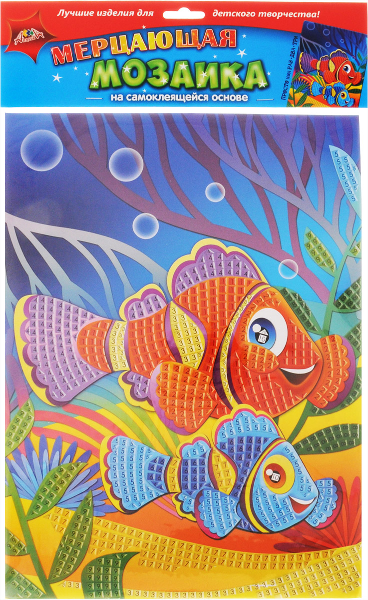 Апплика Мозаика на самоклеящейся основе Коралловые рыбки апплика мозаика на самоклеящейся основе попугай