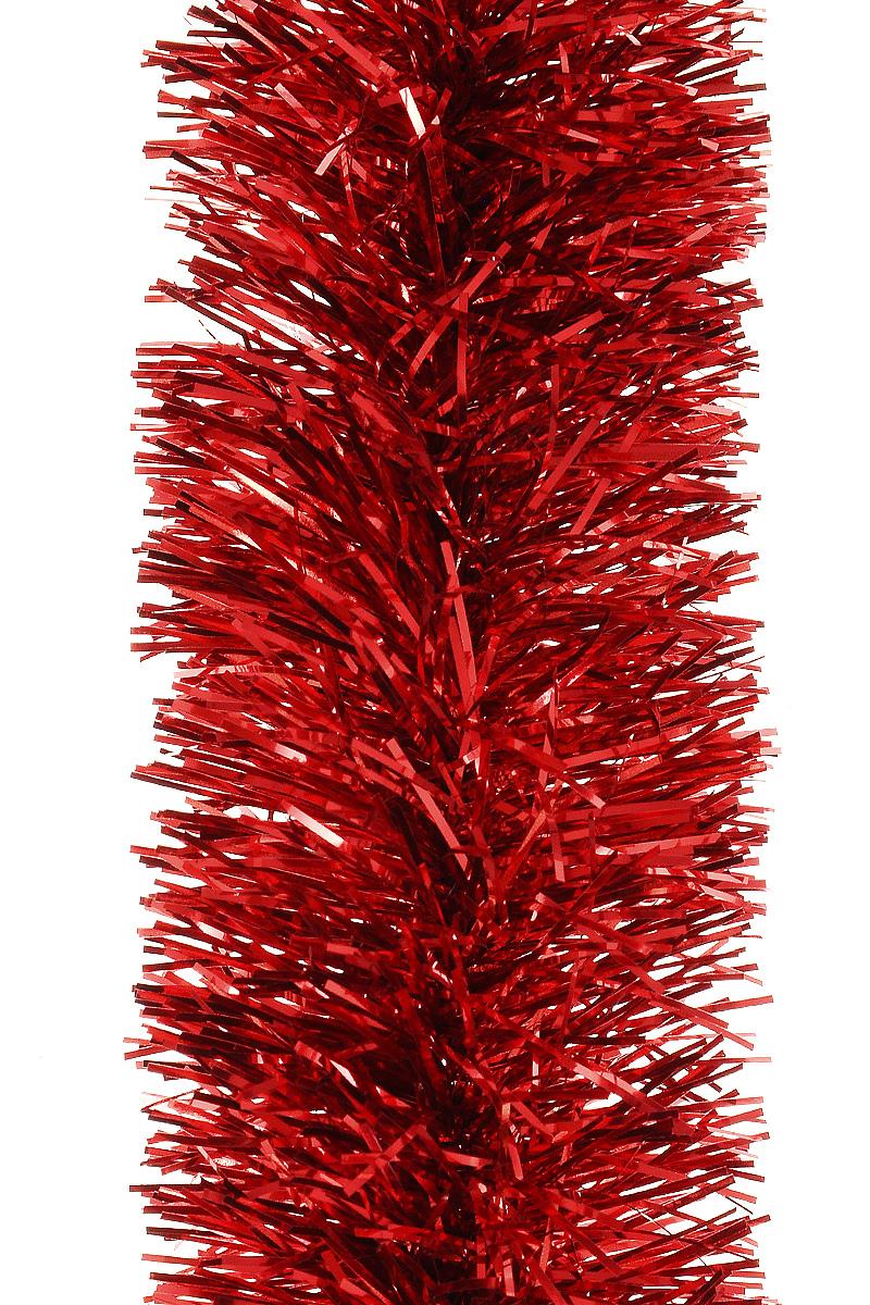 Мишура новогодняя Moranduzzo, цвет: красный, диаметр 5 см, длина 2 мBH1206Мишура новогодняя Moranduzzo, выполненная из ПВХ, поможет вам украсить свой дом к предстоящим праздникам. Новогодняя елка с таким украшением станет еще наряднее. Новогодней мишурой можно украсить все, что угодно - елку, квартиру, дачу, офис - как внутри, так и снаружи. Можно сложить новогодние поздравления, буквы и цифры, мишурой можно украсить и дополнить гирлянды, можно выделить дверные колонны, оплести дверные проемы.