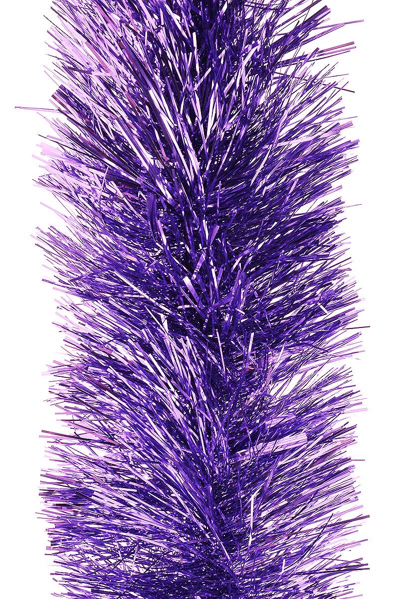 Мишура новогодняя Moranduzzo, цвет: лиловый, диаметр 10 см, длина 2 мMB860Мишура новогодняя Moranduzzo, выполненная из ПВХ, поможет вам украсить свой дом к предстоящим праздникам. Новогодняя елка с таким украшением станет еще наряднее. Новогодней мишурой можно украсить все, что угодно - елку, квартиру, дачу, офис - как внутри, так и снаружи. Можно сложить новогодние поздравления, буквы и цифры, мишурой можно украсить и дополнить гирлянды, можно выделить дверные колонны, оплести дверные проемы.