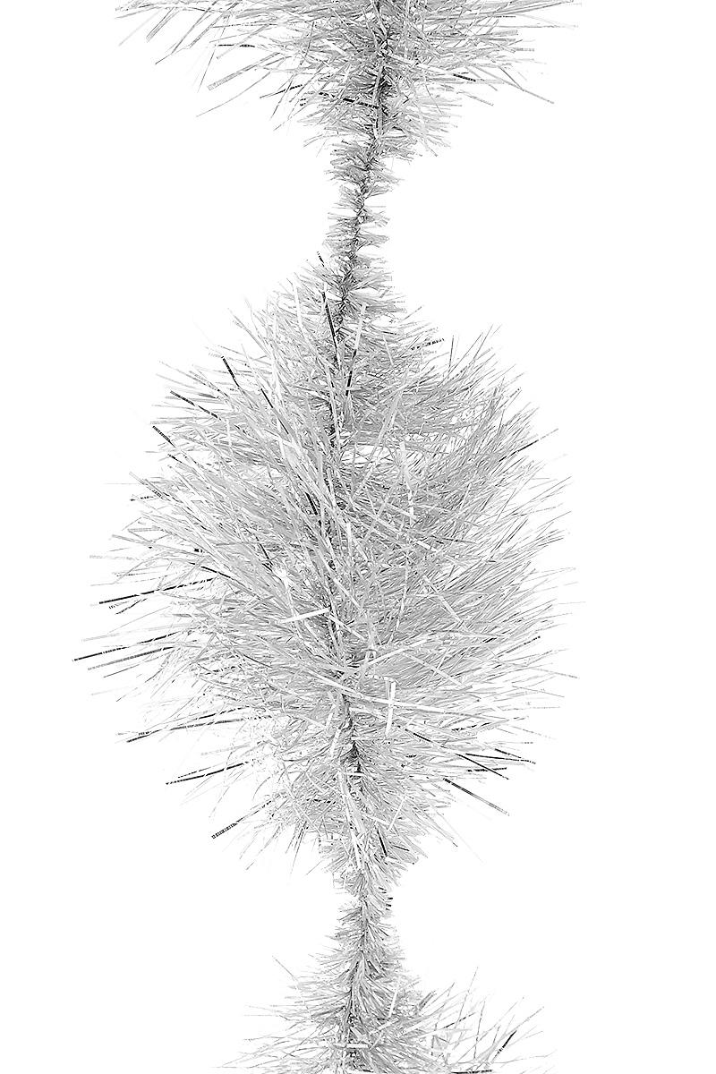 Мишура новогодняя Moranduzzo Пом-пом, цвет: серебряный, диаметр 7,5 см, длина 2 мRSP-202SМишура новогодняя Moranduzzo Пом-пом, выполненная из ПВХ, поможет вам украсить свой дом к предстоящим праздникам. Новогодняя елка с таким украшением станет еще наряднее. Новогодней мишурой можно украсить все, что угодно - елку, квартиру, дачу, офис - как внутри, так и снаружи. Можно сложить новогодние поздравления, буквы и цифры, мишурой можно украсить и дополнить гирлянды, можно выделить дверные колонны, оплести дверные проемы.
