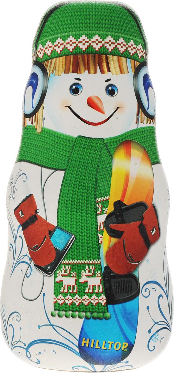 Hilltop Мальчик со сноубордом улун листовой, 100 г (зеленая упаковка)0120710Улун листовой Hilltop Мальчик со сноубордом - знаменитый байховый китайский полуферментированный чай типа Оолонг, с нежным ароматом свежих сливок.
