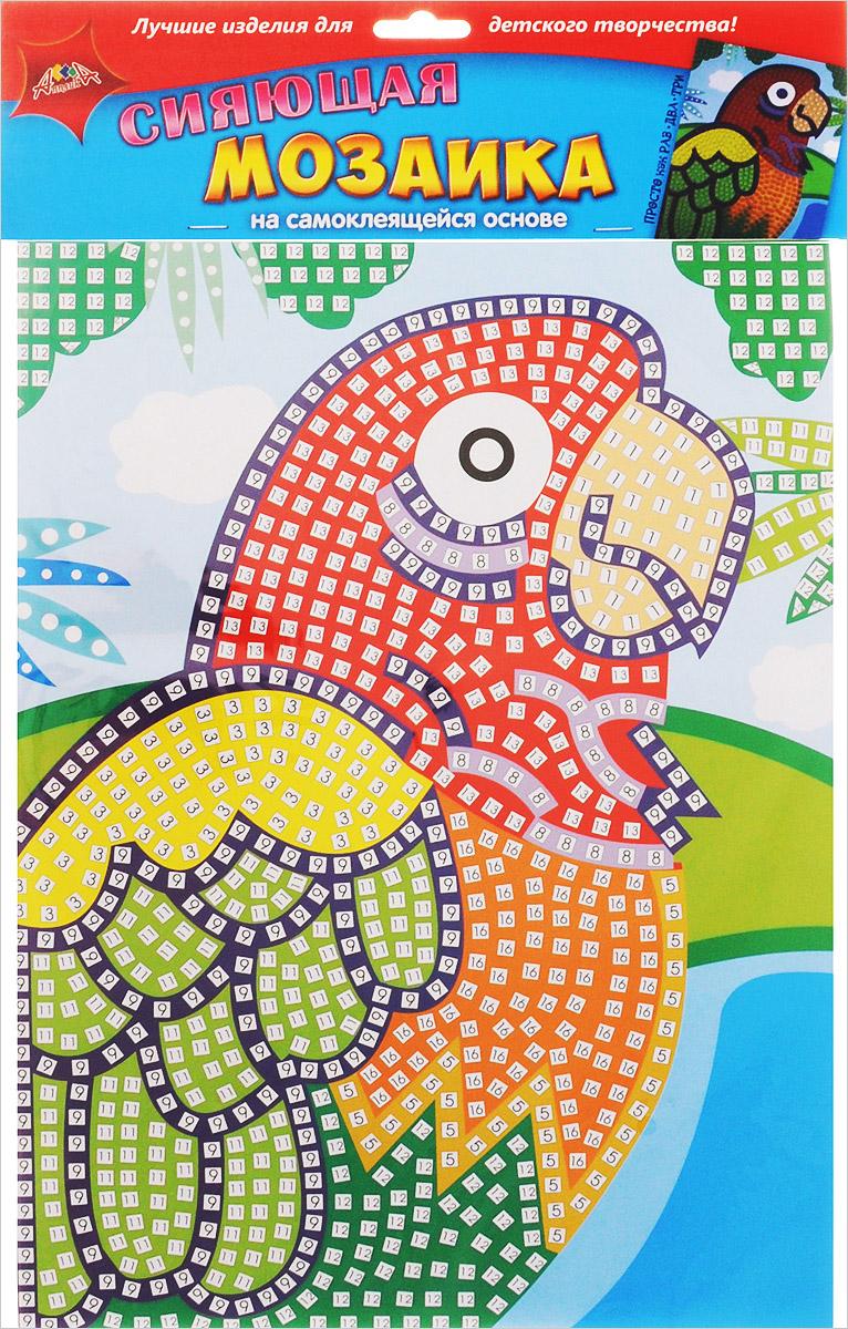 Апплика Мозаика на самоклеящейся основе Попугай пазлы апплика мозаика мягкая цифры из самоклеящегося мягкого пластика eva
