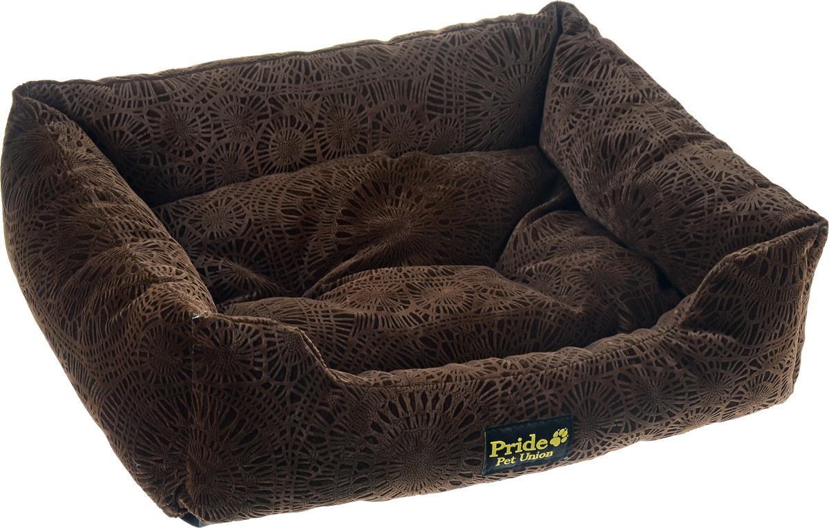 Лежак для животных Pride Фортуна, цвет: шоколад, 60 х 50 х 18 смDM-160277-3Лежак Pride Фортуна прекрасно подойдет для отдыха вашего домашнего питомца. Предназначен для собак средних пород и кошек. Изделие выполнено из прочных материалов высшего качества. Лежак оснащен съемным матрасиком. Комфортный и уютный лежак обязательно понравится вашему питомцу, животное сможет там отдохнуть и выспаться.