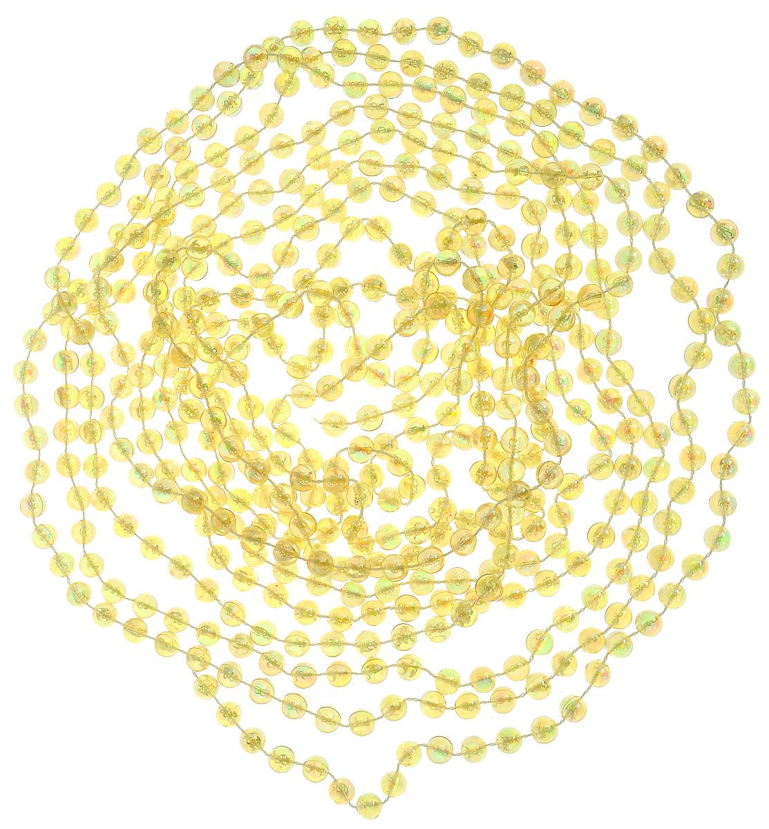 Гирлянда новогодняя Lovemark Бусы, цвет: золотистый, длина 5 м41668Новогодняя гирлянда Lovemark Бусы, выполненная из пластика и текстиля, украсит интерьер вашего дома или офиса в преддверии Нового года. Оригинальный дизайн и красочное исполнение создадут праздничное настроение. Новогодние украшения всегда несут в себе волшебство и красоту праздника. Создайте в своем доме атмосферу тепла, веселья и радости, украшая его всей семьей.Общая длина гирлянды: 5 м.Диаметр бусины: 8 мм.