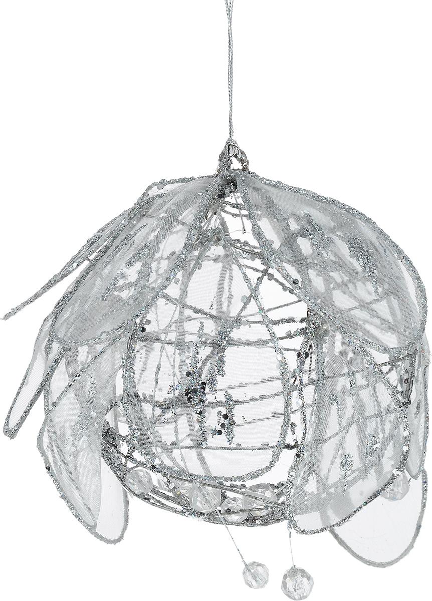 Украшение новогоднее подвесное Lovemark Шар, диаметр 10 смNLED-454-9W-BKНовогоднее подвесное украшение Lovemark Шар выполнено из пластика, металла и органзы. С помощью специальной петельки украшение можно повесить в любом понравившемся вам месте. Но, конечно, удачнее всего оно будет смотреться на праздничной елке.Елочная игрушка - символ Нового года. Она несет в себе волшебство и красоту праздника. Создайте в своем доме атмосферу веселья и радости, украшая новогоднюю елку нарядными игрушками, которые будут из года в год накапливать теплоту воспоминаний.