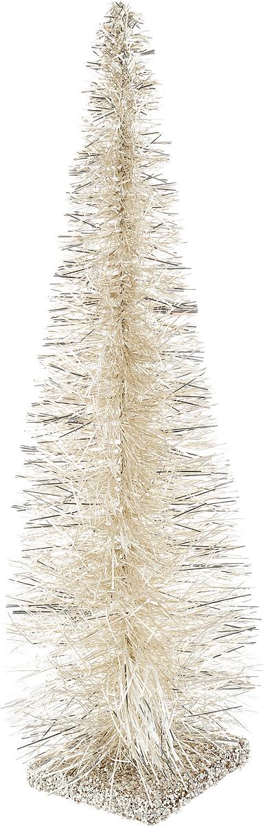 Ель настольная Moranduzzo, на подставке, цвет: серебряный, шампань, высота 28 см145-109На елочку Moranduzzo приятно смотреть, даже когда она не наряжена! Она уютная, стильная и оригинально смотрится. Однако яркие шары или симпатичные украшения сделают ее еще прелестнее. А представьте, какое удовольствие вы получите от самого процесса оформления - ведь очень приятно наряжать такое небольшое деревце!Настольная искусственная елка великолепного качества украсит любой интерьер, будет одинаково уместна как дома, так и в офисе. В интерьере она может также послужить прекрасным дополнением к большой новогодней ели.