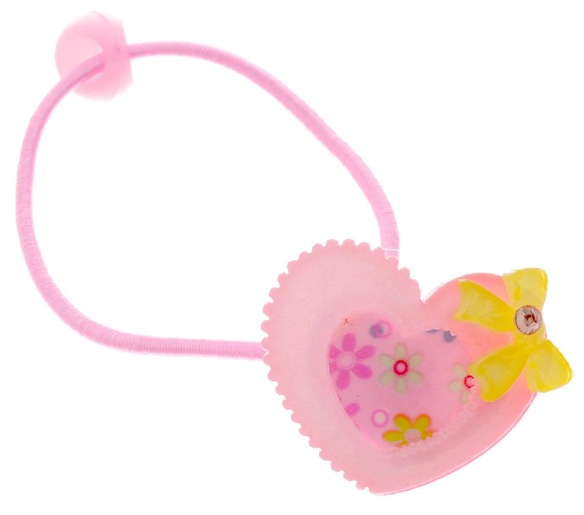 Fashion House Резинка для волос Сердечко 2 штFH27910_розово-желтыйРезинка для волос Fashion House Сердечко позволит украсить прическу вашей малышки и доставит ей много удовольствия. Резинка украшена декоративным элементом в виде розовых сердечек и желтых бантиков.Комплект включает две резинки.