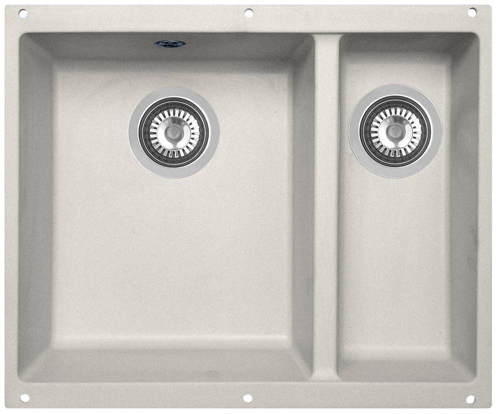 Мойка кухонная Zigmund & Shtain, подстольная, 2 чаши, цвет: индийская ваниль. integra5002kreisov770bZigmund & Shtain INTEGRA 500.2, кухонная мойка с подстольной установкой , иск.гранит, 2 чаши, глубина-19см-основн.13 см-доп. форма- прямоугольная, Цвет Индийская ваниль
