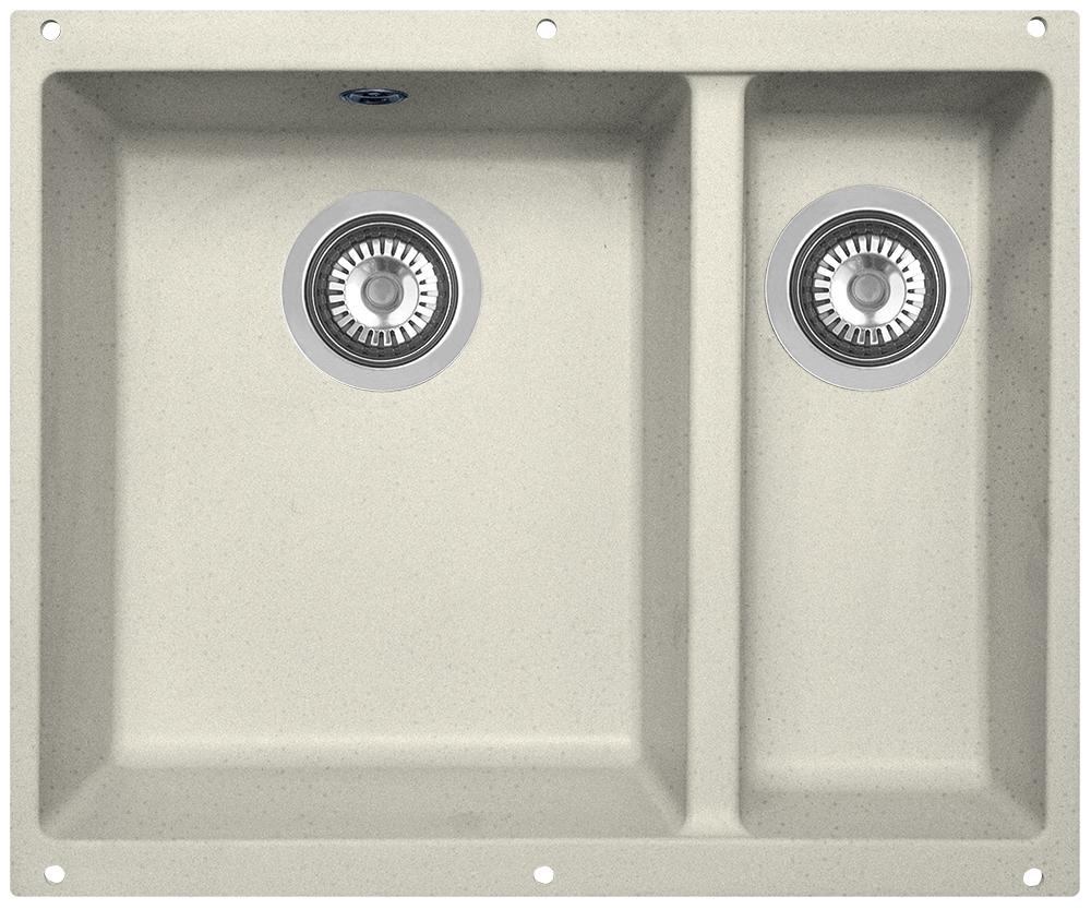 Мойка кухонная Zigmund & Shtain, подстольная, 2 чаши, цвет: каменная соль. integra5002integra500Zigmund & Shtain INTEGRA 500.2, кухонная мойка с подстольной установкой , иск.гранит, 2 чаши, глубина-19см-основн.13 см-доп. форма- прямоугольная, , Цвет Каменная соль