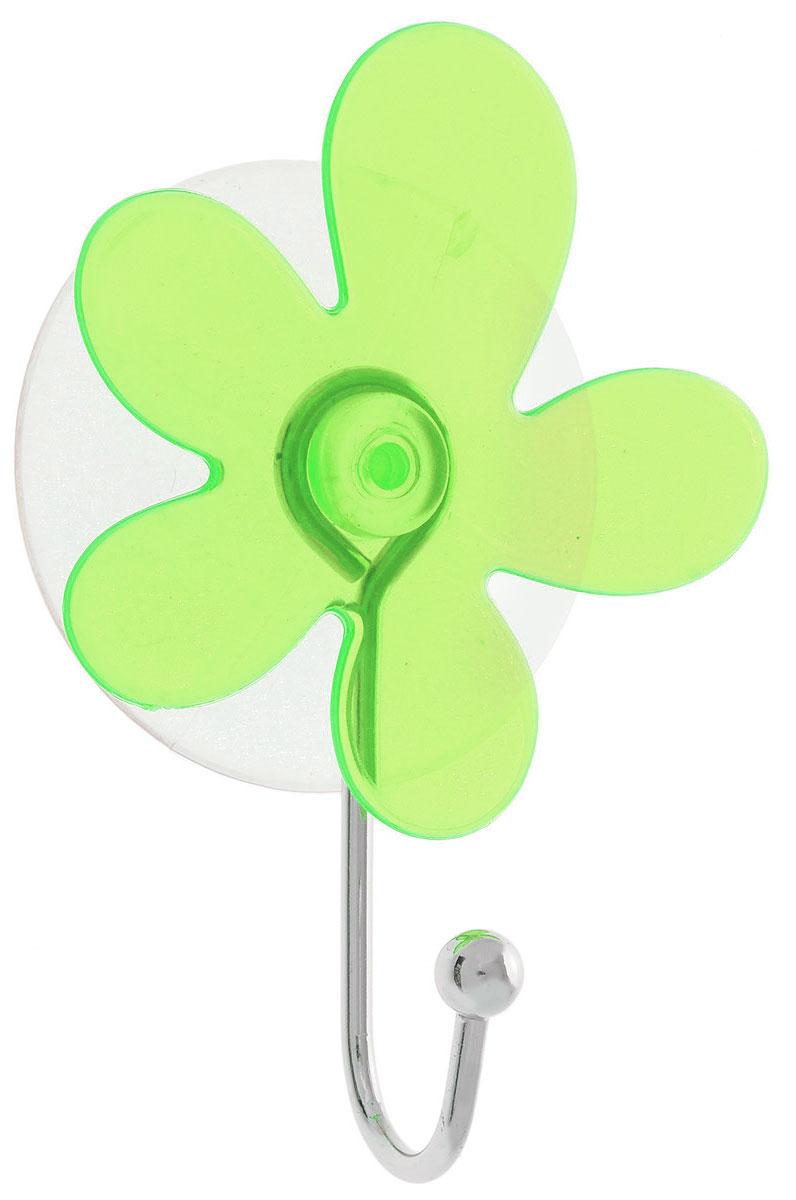 Крючок Top Star Клякса, на вакуумной присоске, цвет: зеленый, серебристый, 6 х 3 х 10 см22010110Крючок Top Star Клякса изготовлен из хромированной стали и украшен оригинальной пластиковой вставкой. Крючок крепится к поверхности при помощи присоски. Для надежности крепленияприсоску необходимо устанавливать на гладкой, воздухонепроницаемой, очищенной иобезжиренной поверхности. Такой крючок прекрасно впишется в интерьер ванной комнаты и поможет эффективноорганизовать пространство.