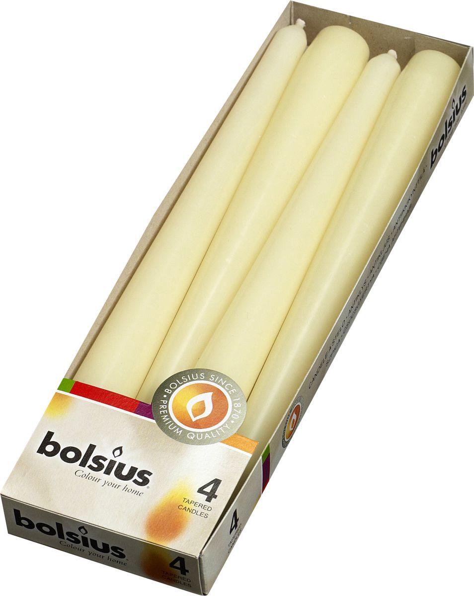 """Набор античных свечей """"Bolsius"""", цвет: кремовый, высота 25 см, 4 шт"""