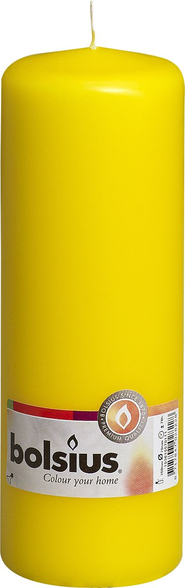 Свеча Bolsius, цвет: желтый, высота 20 смFS-80299Свеча Bolsius выполнена из парафина в классическом стиле. Ее можно поставить в любое место и она станет ярким украшением интерьера. Свеча Bolsius создаст незабываемую атмосферу, будь то торжество, романтический вечер или будничный день.
