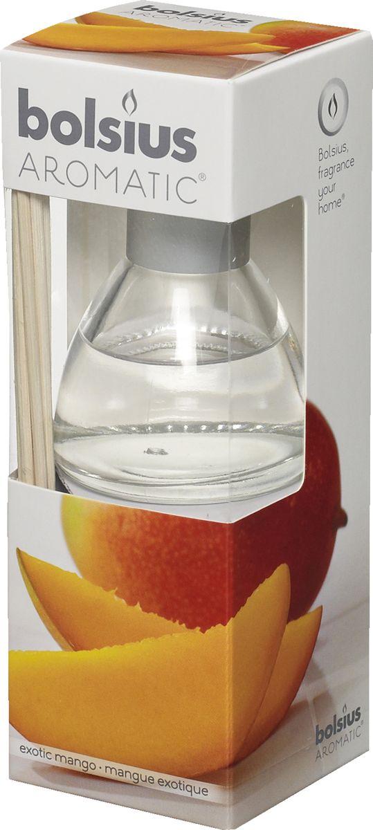 Диффузор ароматический Bolsius Манго, 45 мл08GSS1291-COАроматический диффузор Bolsius - это простое, изящное и долговременное решение, как наполнить дом или офис приятным запахом.Диффузор - это не просто освежитель воздуха, а элемент декора, который окутает вас своим приятным и нежным ароматом. Отлично подойдет в качестве подарка. Способ применения: поместите палочки в вазу с ароматической жидкостью. Степень интенсивности запаха может регулироваться объемом ароматической жидкости и количеством палочек. Товар сертифицирован.