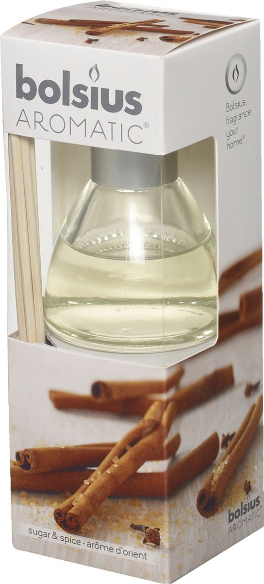 Диффузор ароматический Bolsius Пряность, 45 мл5A1144Диффузор ароматический Bolsius Пряность - это не просто освежитель воздуха, а элемент декора, который окутает вашу квартиру своим приятным ароматом.Отлично подойдет в качестве подарка.