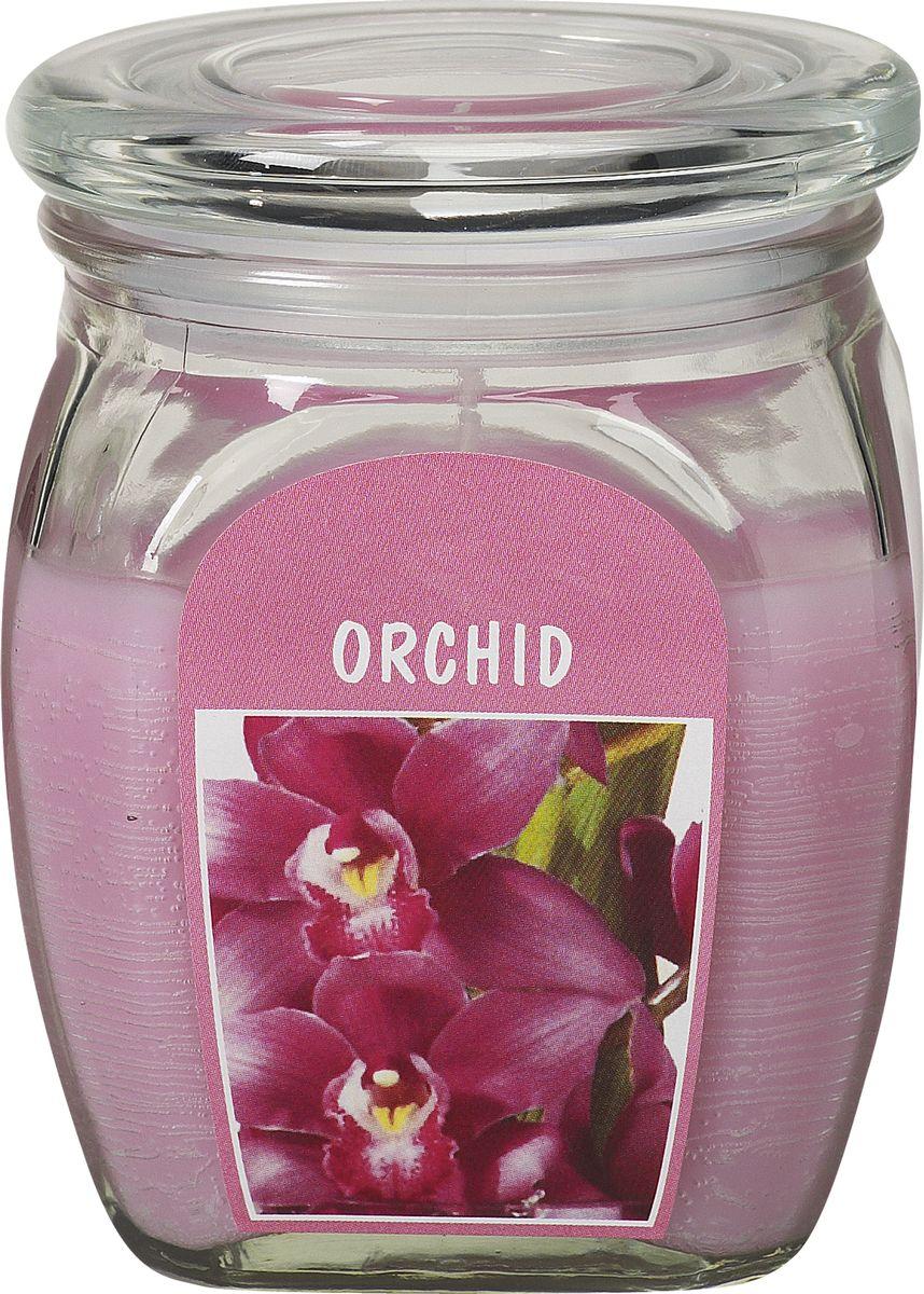 Свеча ароматизированная Bolsius Орхидея, высота 12 смБрелок для ключейАроматизированная свеча Bolsius, изготовленная из парафина, помещена в подсвечник, выполненный из стекла. Изделие отличается оригинальным дизайном и приятным ароматом. Такая свеча не только поможет дополнить интерьер вашей комнаты, но и станет отличным подарком.