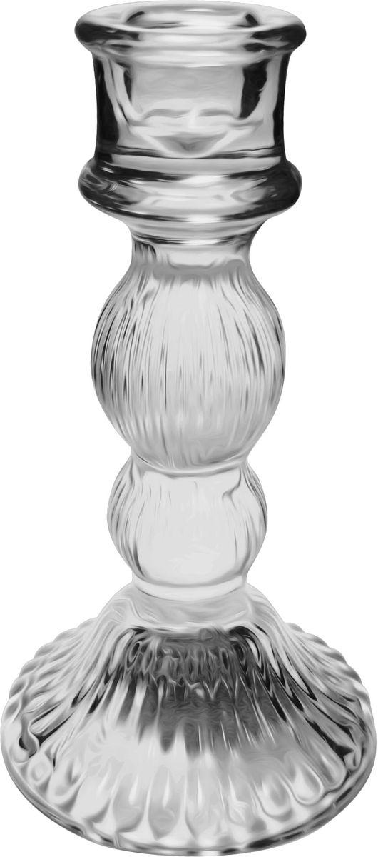 Подсвечник Bolsius, 8 х 8 х 15 см41619Подсвечник Bolsius, выполненный из стекла, станет отличным украшением интерьера. Мерцание свечи в таком подсвечнике создаст атмосферу романтики и уюта. Благодаря изысканному дизайну, изделие сможет стать отличным подарком для ваших друзей и близких.