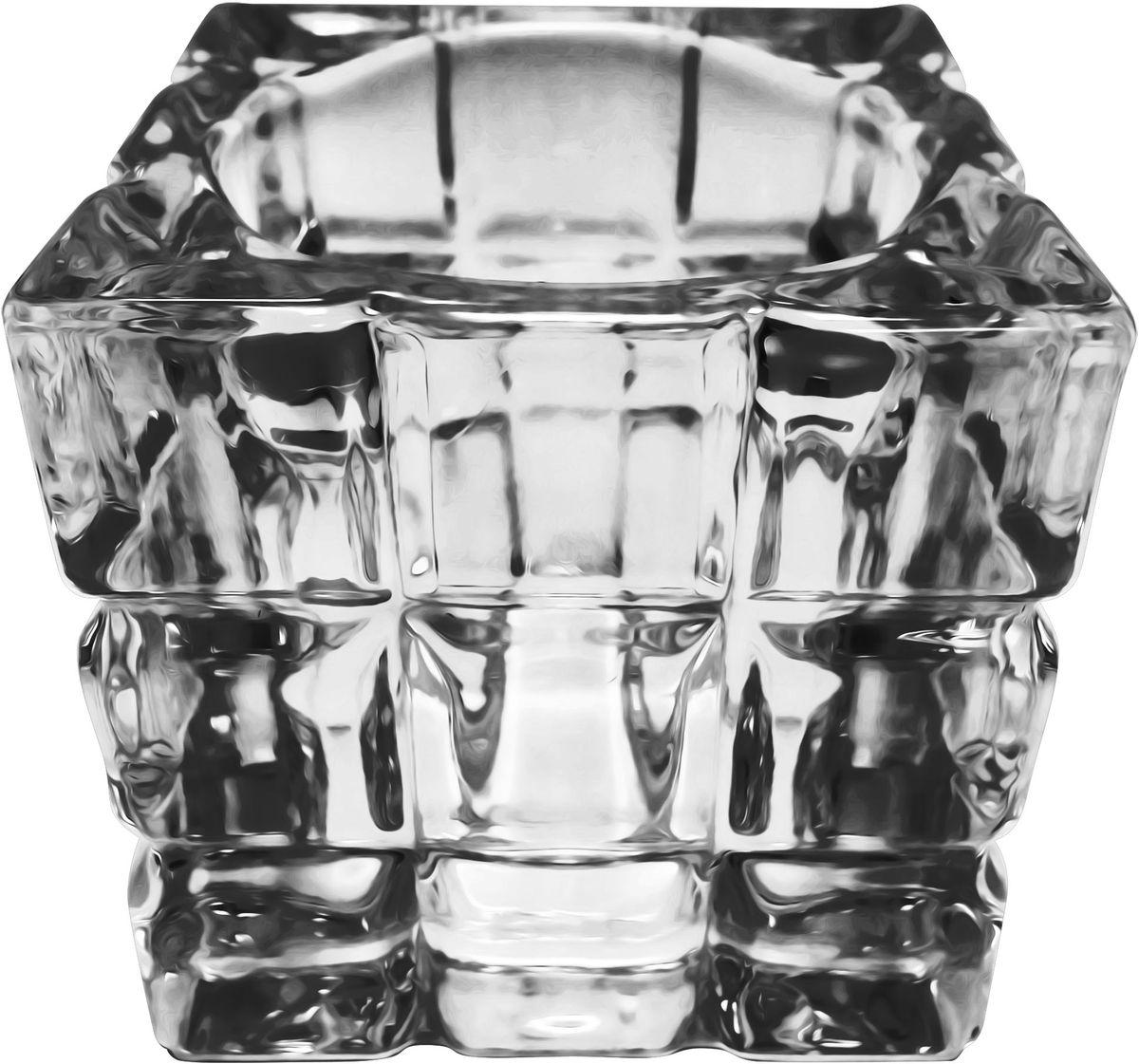 Подсвечник для чайной свечи Bolsius, 6,5 х 6,5 см103626949303Подсвечник Bolsius, выполненный из стекла, станет отличным украшением интерьера. Мерцание свечи в таком подсвечнике создаст атмосферу романтики и уюта. Благодаря изысканному дизайну, изделие сможет стать отличным подарком для ваших друзей и близких.