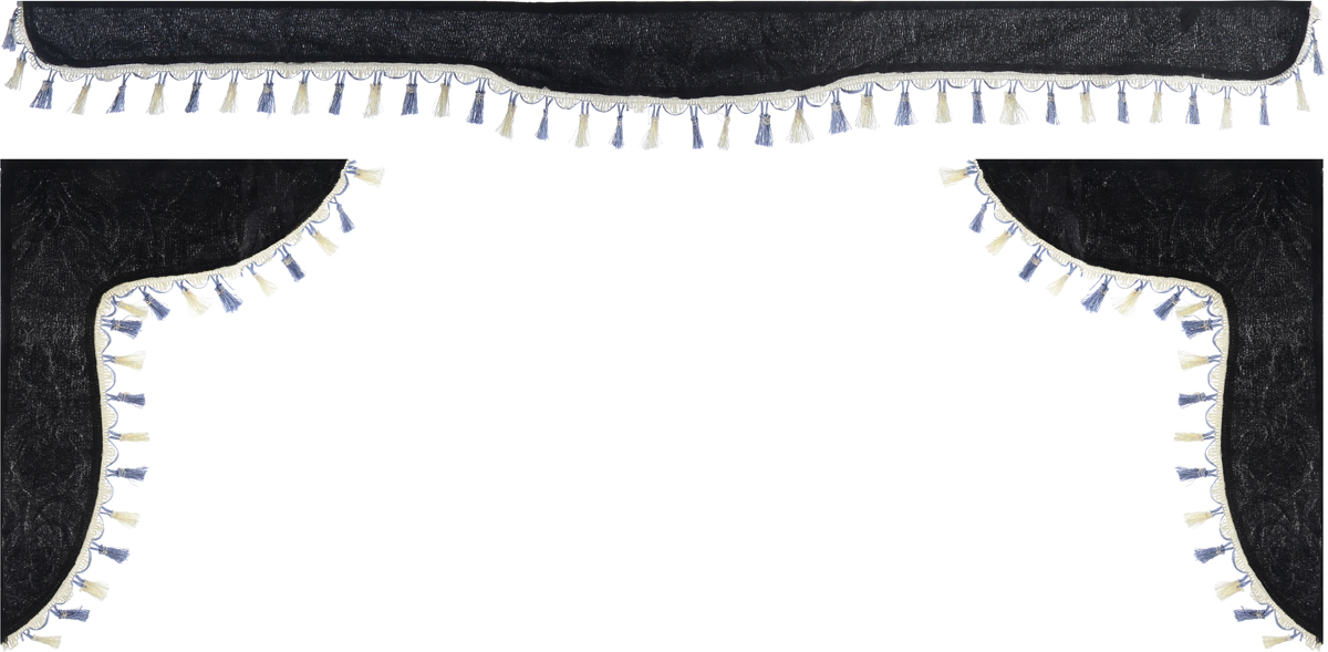 Ламбрекен для автомобильных штор Главдор, на Газель Next и микроавтобусы, цвет: черныйАксион Т-33Ламбрекен для автомобильных штор Главдор изготовлен из бархатистого текстиля и декорирован кисточками по всей длине. Ламбрекен фиксируется при помощи липучек в верхней области лобового стекла и по сторонам боковых стекол. Такой аксессуар защитит от солнечных лучей и добавит уюта в интерьер салона.Размер ламбрекена на лобовое стекло: 180 х 15 см. Размер ламбрекена на боковое стекло: 60 х 45 см.